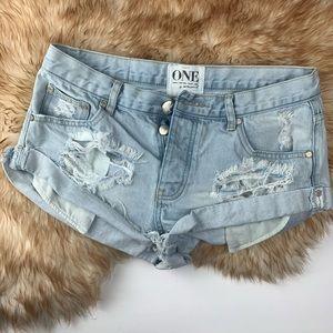 One Teaspoon Cut Off Shorts Distressed 27